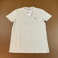 Lacoste Men's Size Small Heather Gray Crew Neck Pima Cotton Jersey T-Shirt NWT