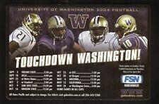 Derrick Johnson--2004 Washington Huskies Football Magnet Schedule