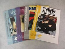 Lot of 4 Piranha Press Graphic Novels ~ Epicurus the Sage ~ Sinners ~ Hardcore