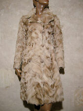 CHIC VINTAGE MANTEAU FOURRURE VERITABLE 1970 VTG COAT FUR COAT 70s MANTEL (38)