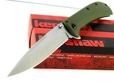 Kershaw Al Mar AM-4 Flipper Speed Assisted Opening G10 Green Olive Knife 2330GRN