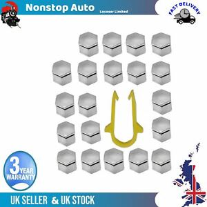 20X Wheel Nut Bolt Screw Cover 22mm 1X Remover Tool For Land Rover Discovery Mk3