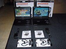 "LOT OF 2. 10"" Sylvania SDVD1030 portable dvd player"