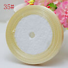 "Free Shipping wedding festival 25 Yards 3/8"" 10mm Craft Bows Satin Ribbon Ivory"