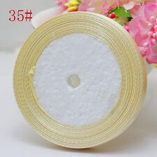 "Free Shipping wedding festival 25 Yards 3/8"" 10mm Craft Bows Satin Ribbon Ivory"