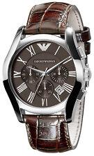 Armani Emporio Classic Watch Brown / Silver Quartz Analog Men's Watch AR0671