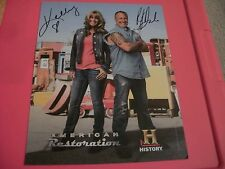 SIGNED PHOTO OF KELLY & RICK DALE OF AMERICAN RESTORATION