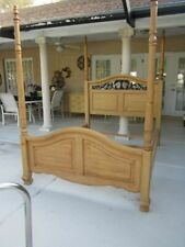 Solid Wood Four Poster Queen Headboard With Foot board And Rails