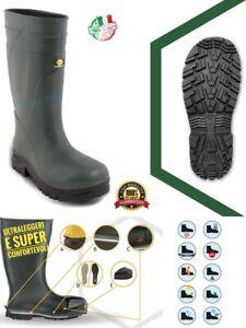 Stivali antinfortunistica gomma uomo ginocchio per lavoro caccia pesca 42 43 44