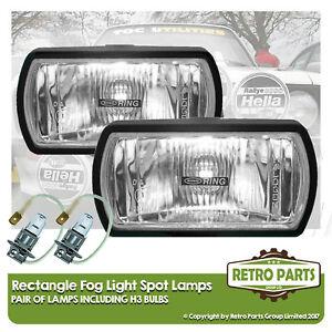 Rectangle Fog Spot Lamps for Ford Probe. Lights Main Full Beam Extra