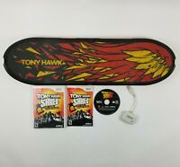 Tony Hawk Shred Skateboard & Game For Wii With Wireless Dongle Tested Working