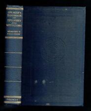 Prochnow; Speaker's Handbook of Epigrams and Witticisms. A Thomas 1950 Good