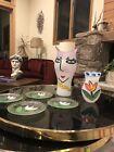 Ulrica Hydman-Vallien Painted Vase Kosta Boda Eve Serpent Open Minds 15 Inch AP