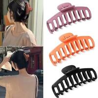 Women Ladies Large Hair Claw Clip Elegant Solid Color Hairpin Clamp P0E2