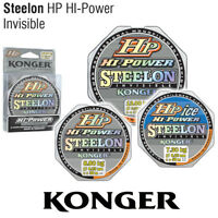150m SPULE ANGELSCHNUR KONGER HP HI-POWER STEELON INVISIBLE MONOFILE SCHNUR LINE