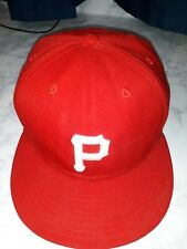New Era Pittsburgh Pirates MLB 59FIFTY Fitted Hat Red Flatbill Size 7 1/8 NWOT L