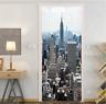 Door Sticker 3D New York DIY PVC Waterproof Self adhesive Door Wall Mural