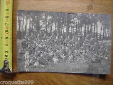 Carte photo MILITAIRE WWI 14/18 troupe regiment dans la foret