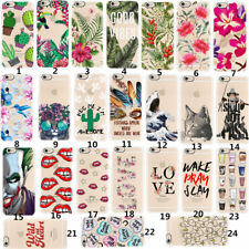 Clear Pattern Rubber Soft TPU Silicone Phone Case Cover For iPhone 6s 6 7 8 Plus