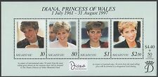 NIUAFO'OU, SCOTT # 201, MINI SHEET OF PRINCES DIANA, PRINCESS OF WALES, 1997