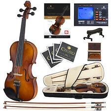 Cecilio Size 1/4 Ebony Fitted Orchestra Violin +Book/Video+Tuner ~1/4CVN-300