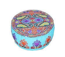 Embroidered Ottomans Patchwork Handmade Cotton Ottoman Pouf Cover Ottomans