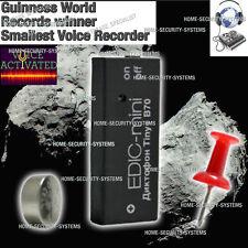 Digital Voice Recorder Edic Mini Tiny+ B70 Listening Device Activated No Spy MIC