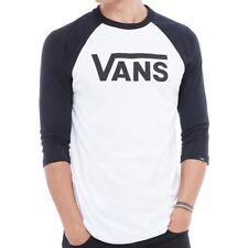 VANS CLASSIC RAGLAN LS T SHIRT WHITE BLACK