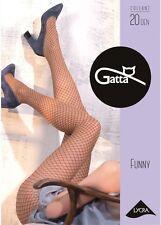 "Gatta ""Funny 03"" 20den Strumpfhose in Netzstrumpfhosen-Optik in golden-schwarz"