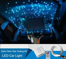 10W RGBW Car LED Light 150 Strand Fiber Optic Twinkle Star Ceiling Kit RF Remote