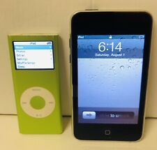 Apple iPod Lot A1199 Green Nano 4GB A1288 AND 8GB iPod Touch 2nd Generation