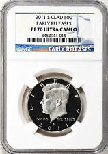 2011-S Clad Kennedy Half Dollar Early Releases NGC PF70 ULTRA CAMEO