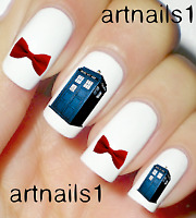 Dr Who Nails Tardis Sci Nail Art Water Decal Stickers Manicure Salon Mani Polish