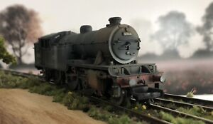BACHMANN  31-604 V3T 2-6-2 BR BLACK LATE CREST 67666. BOXED  OO GAUGE. WEATHERED