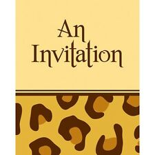"""""""ANIMAL PRINT""""   Pack of 8 - Leopard Animal Print Party Invitations!"""