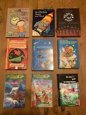 Konvolut 9 Stück gebr. Kinderbücher für fortgeschrittene Erstleser ab 8 Jahre