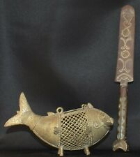 Two artifacts Dokhra bronze letter opener larger one 8.5 inches