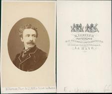 La Haye, Samuel-Leonardus Verveer, peintre  CDV, vintage albumen carte de visite