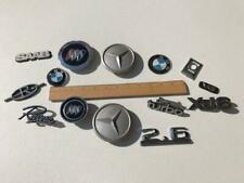 Lot of 14 Original Assorted Automobile Cars Scripts Emblems Trim Caps Badges