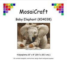 MosaiCraft Pixel Craft Mosaic Kit 'Baby Elephant' Pixelhobby