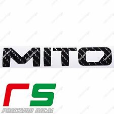 alfa romeo mito logo 2016 ADESIVI sticker decal carbon look 3D-4D