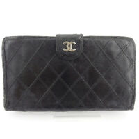 CHANEL wallet Bikorore leather Auth used D2140