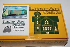 N Scale Branchline Trains Laser-Art Stuctures Icehouse Kit 881
