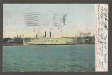 "[39922] 1906 POSTCARD HUDSON RIVER STEAMBOAT ""ADIRONDACK"", ALBANY. N. Y."