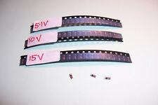 Zener diode selection 20 each 5.1V 10V 15V 500mW SMD SOD-80 MiniMELF Vishay NEW