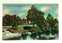Indianapolis Indiana Riverside Park Pavilion Linen Vintage Postcard