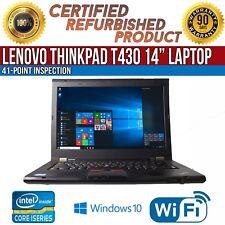 "Lenovo ThinkPad T430 14"" Intel i5 8 GB RAM 500 GB HDD Win 10 WiFi B Grade Laptop"