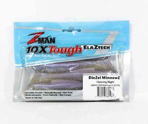 Zman Soft Lure Diezel MinnowZ 5 Inch 4 per pack Opening Night (0283)
