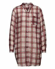 Lollys Laundry Lightweight Oversized Checked Long Blouse Shirt Lenora Red