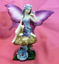 Fairy Statue Garden Fairies Ornament Elf Magic Fantasy Figurine On Mushroom